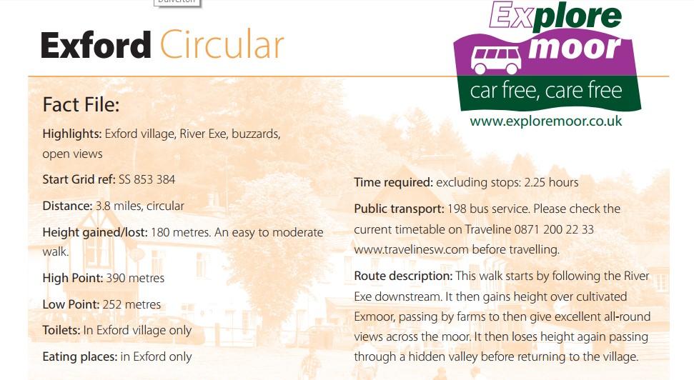 Exford circular walk