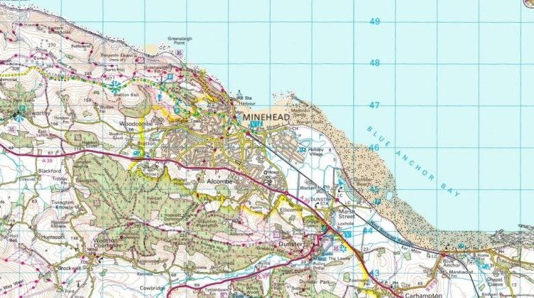 A map of Minehead