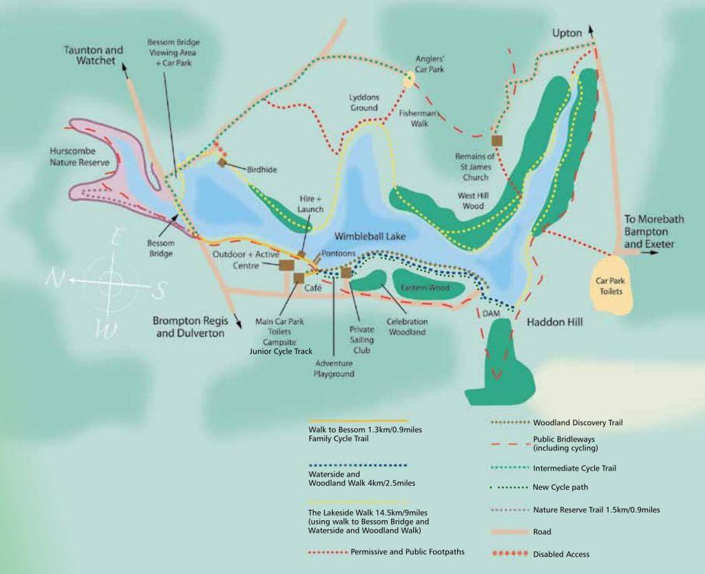 Wimbleball Lake Map