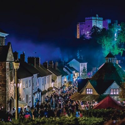 Dunster a glow - Exmoor Christmas Things to Do