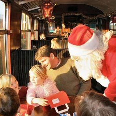 Gifts and Mince Pies on the Santa Express Train