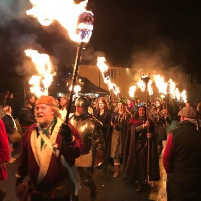 Burning Torches in Dunster - Exmoor Christmas Things to Do