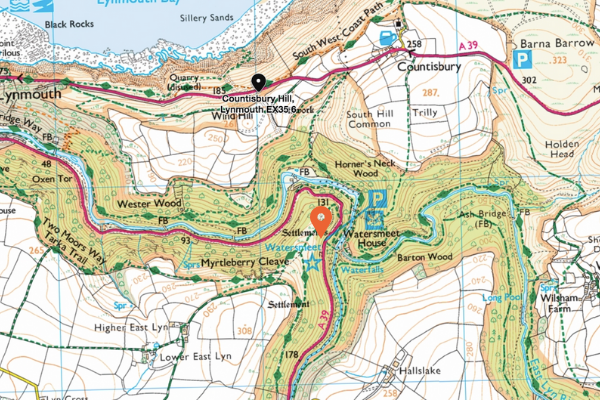 Map to find Watersmeet House