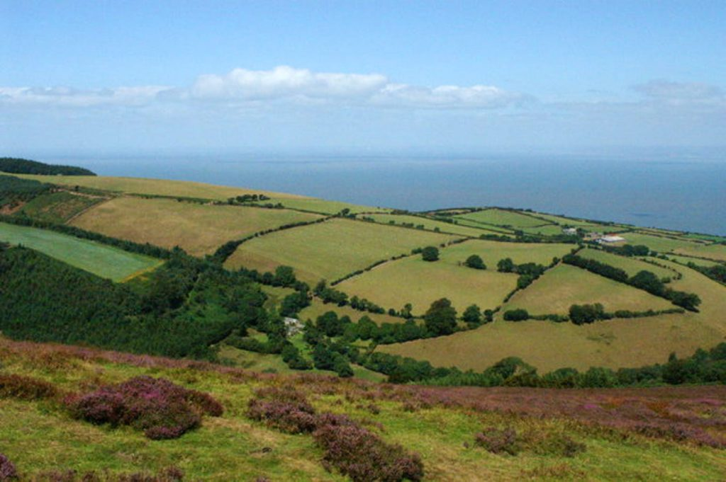 A view to the coast from County Gate